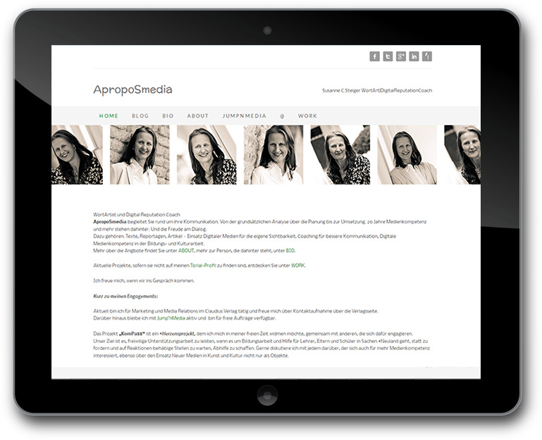 Webseite - WortArtist und Digital Reputation Coach