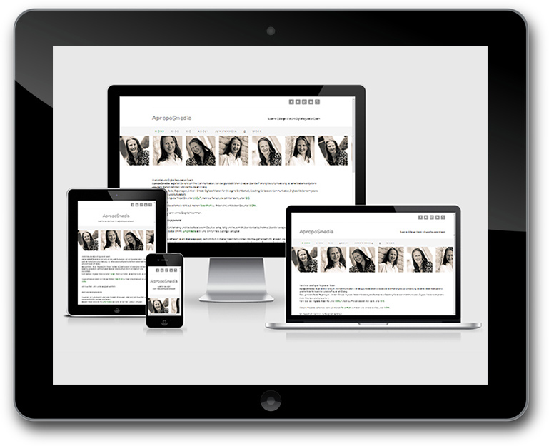 Responsive Deisgn Website mit Social Media