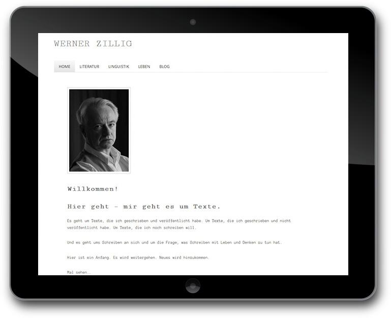 Schrifsteller Website mit Blog