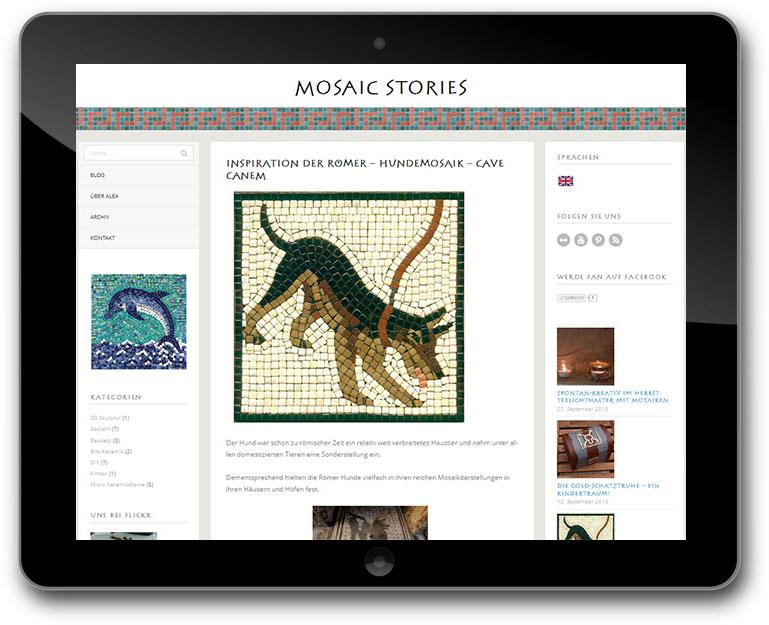 DIY Mosaik Blog mit CMS WordPress