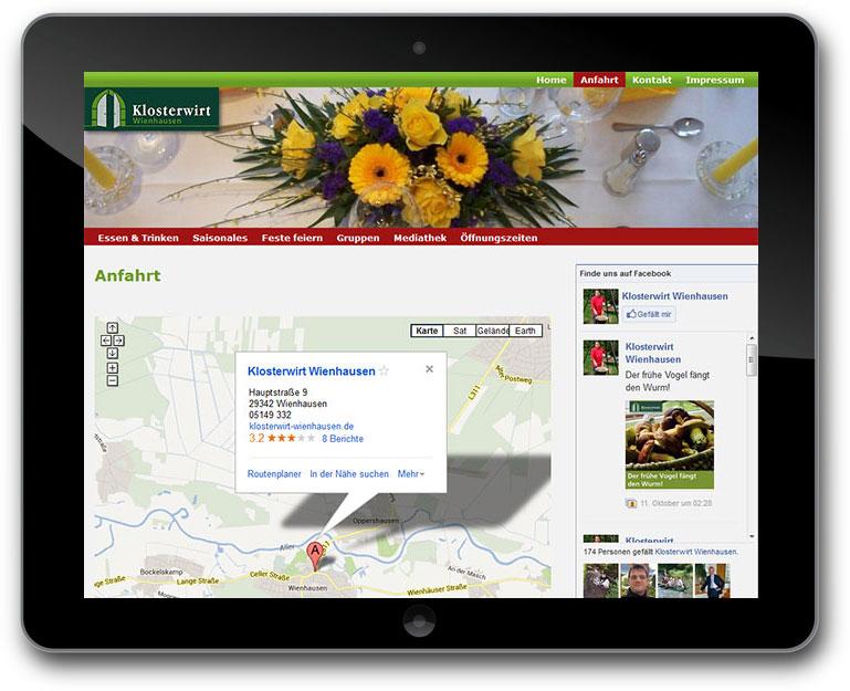 klosterwirt Wienhausen Website