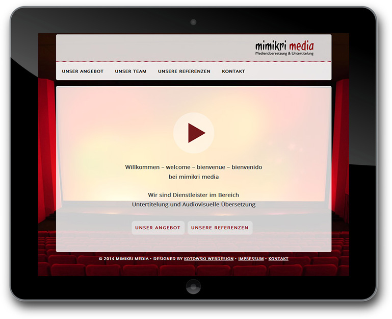 Medienuebersetzung Website mit CMS WordPress