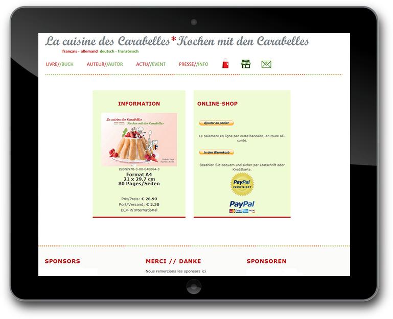 Buch Verkauf mit Paypal WordPress Website