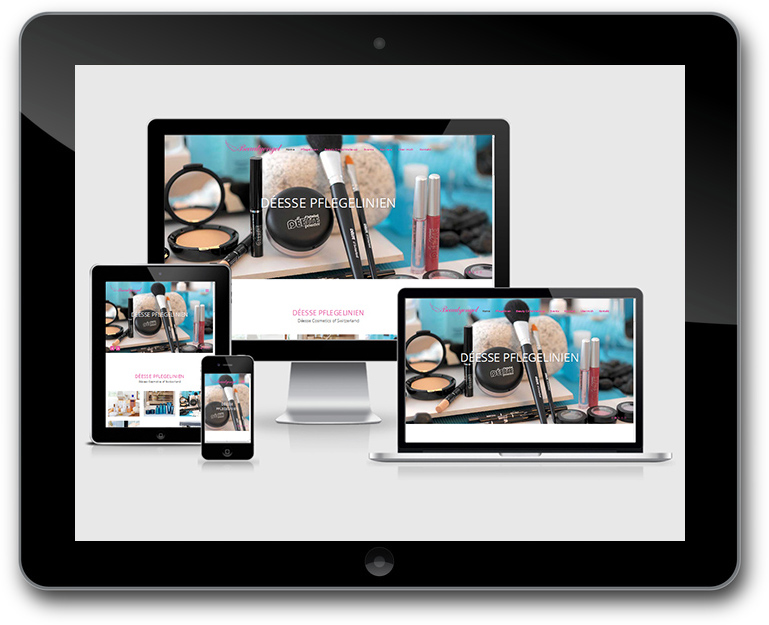 Responsive Design Kosmetik Beratung Website