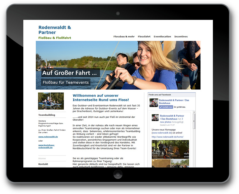 Teambuilding Website Rodenwaldt und Partner