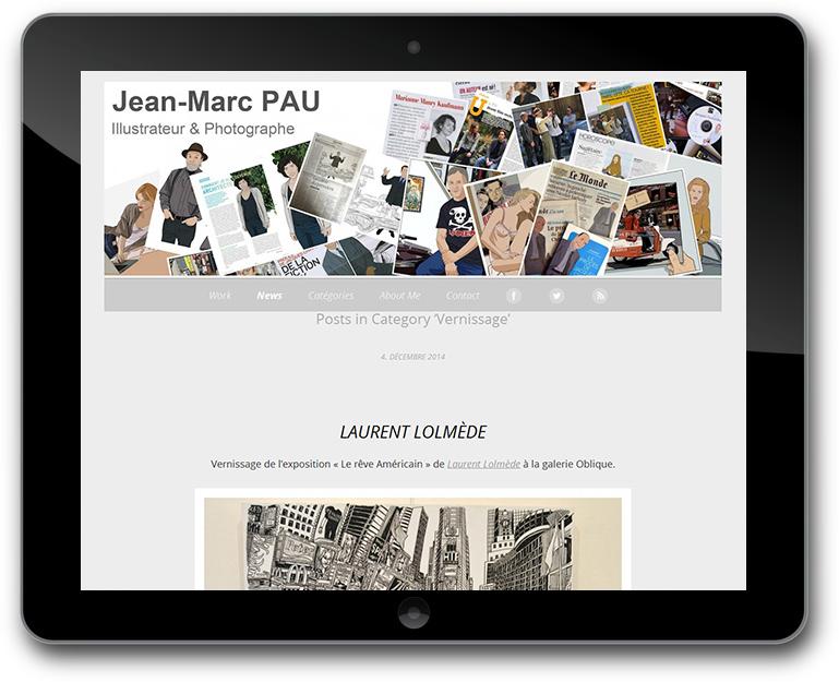 Fotografie und Illustration Website mit CMS WordPress