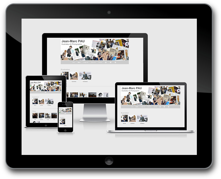 Responsive Design WordPress Website mit Blog