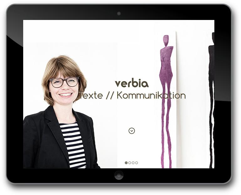 Verbia Website - CMS: WordPress - Texte // Kommunikation