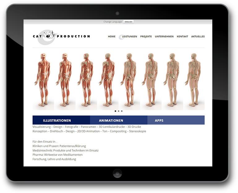 Cat Medic Website - Illustrationen - Animationen - Apps