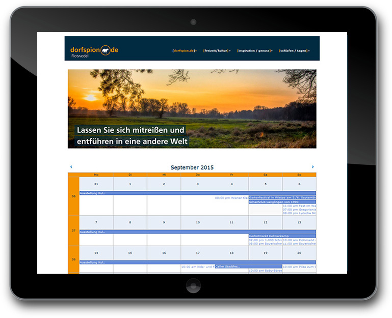 Dorfspion - TYPO3 - Kalender - Event