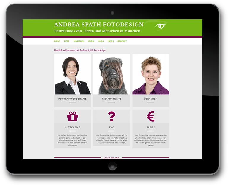 Fotografin - WordPress Webseite - Responsive Design