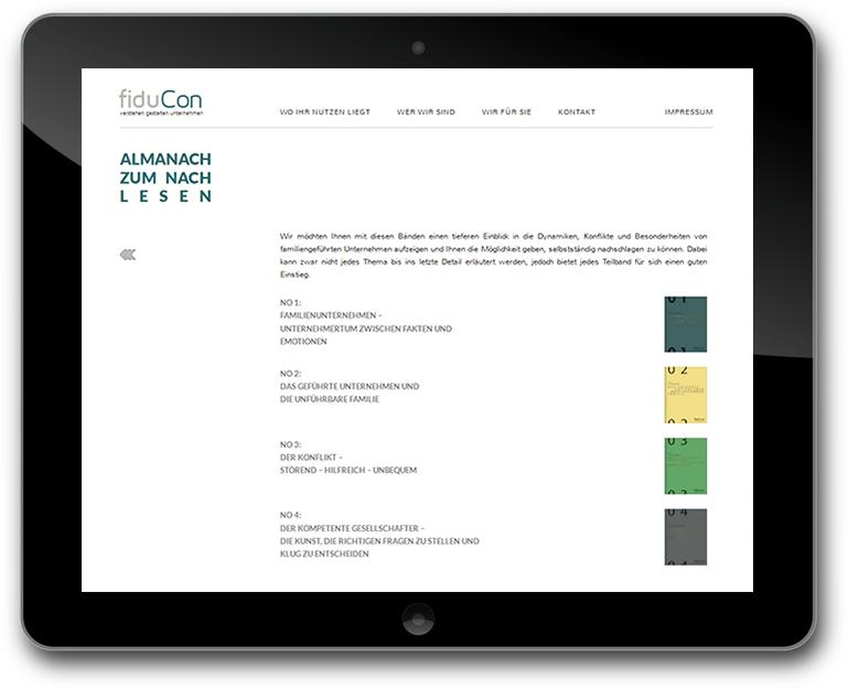 fiduCon | Unternehmensberatung für Familienunternehmen - Almanach Übersicht