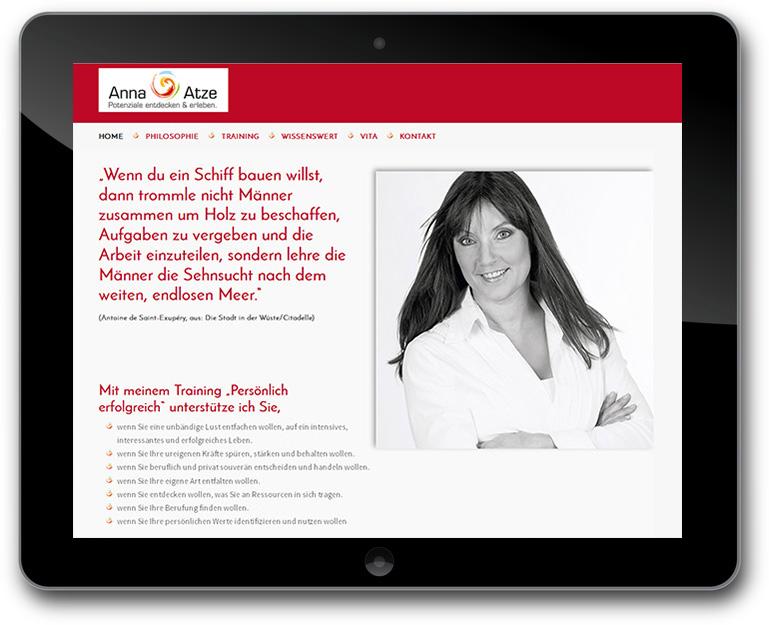 Referenz anna Atze Training CMS WordPress