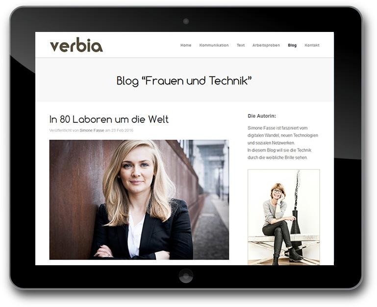 Verbia - Texte // Kommunikation - Blog Frauen und Technik