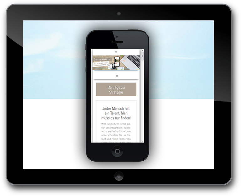business Blog mit Vlog - Responsive Design