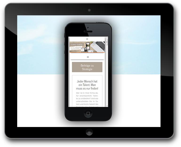 business Blog mit Vlog - Responsive Design