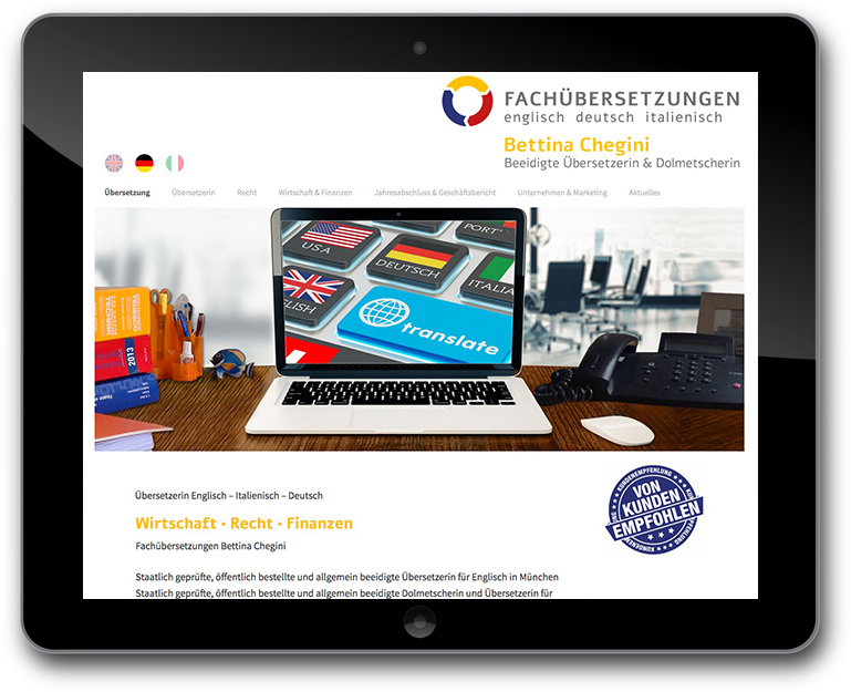Website - Übersetzungbüro -Mehrsprachig - CMS : WordPress