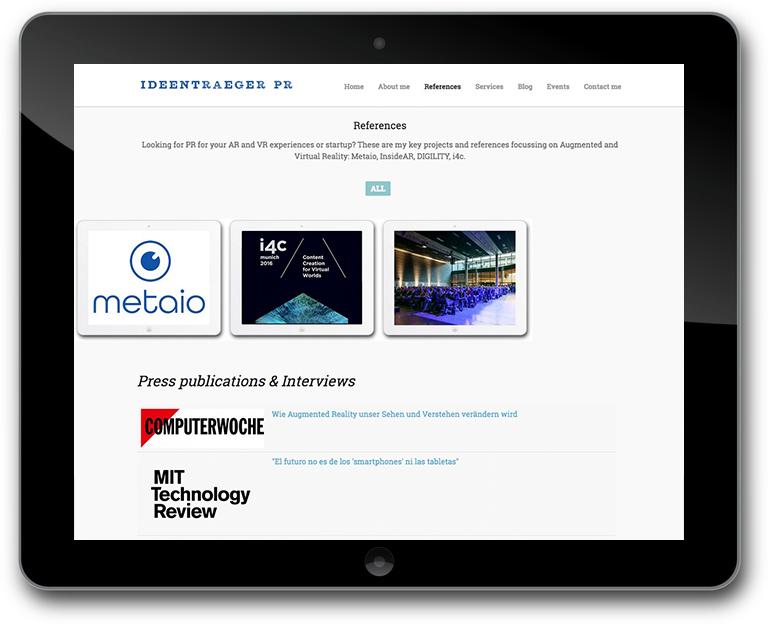 Anett Gläsel-Maslov Ideentrager – PR & Communications - Portfolio - References