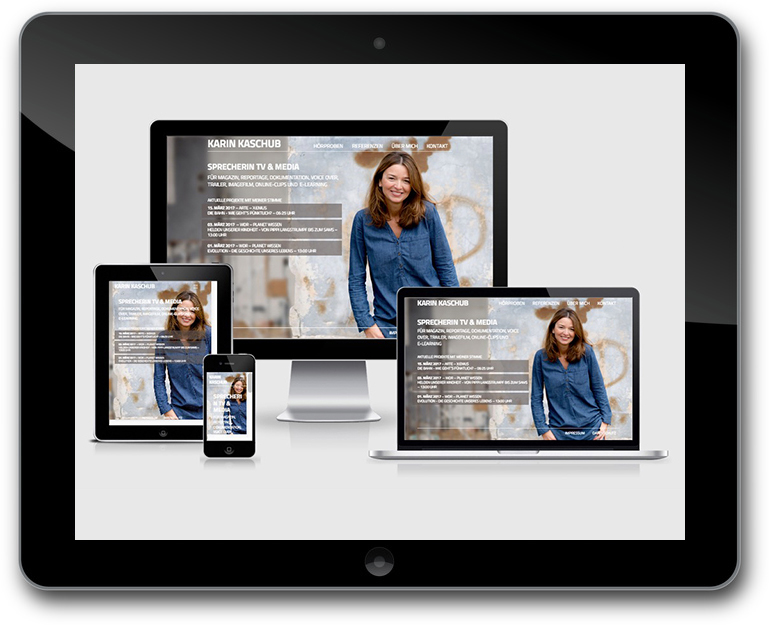 Sprecherin Website - WordPress - Responsive Design