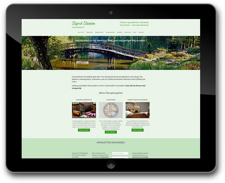 Sigrid Sassen - Heilpraktikerin Website
