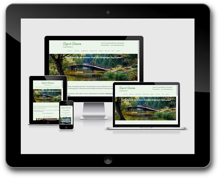 Sigrid Sassen - Heilpraktikerin - Responsive Design Website