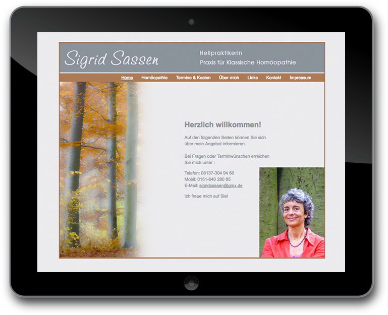 Sigrid Sassen - Relaunch Website