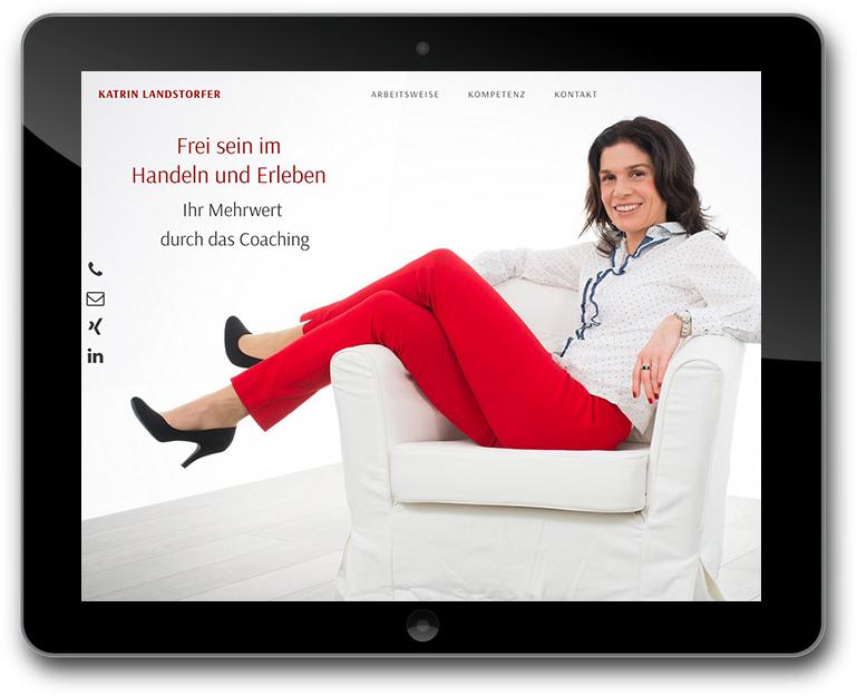 Coach Karin Landstorfer - WordPress CMs Website