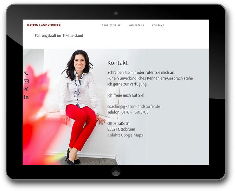 Katrin Landstorfer - Coach - Responsive Design