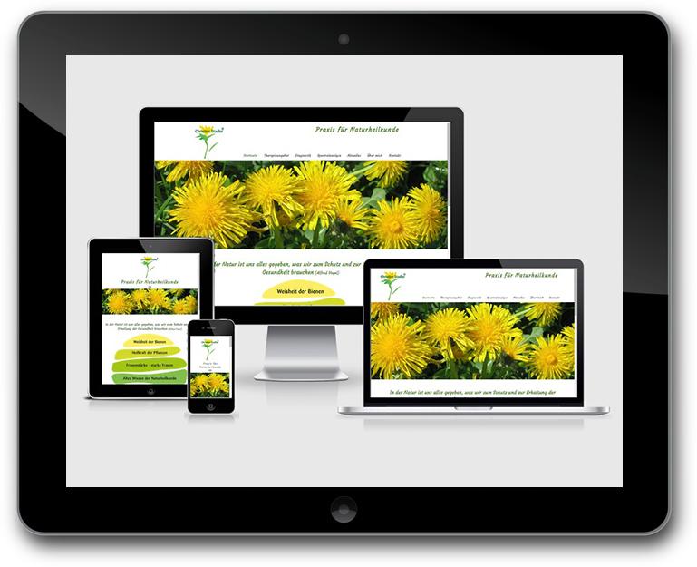 Christine Stalder - Praix für Naturheilkunde - Responsive Design