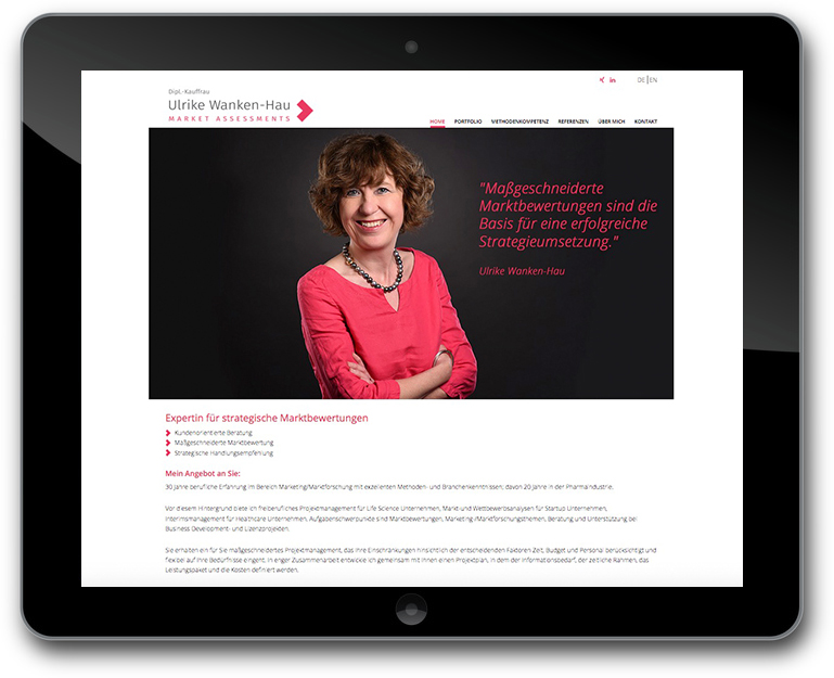 Ulrike Wanken-Hau - Markets Assessments - WordPress Website