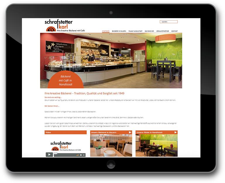 Karl Schrafstetter - Bäckerei - Café - Website