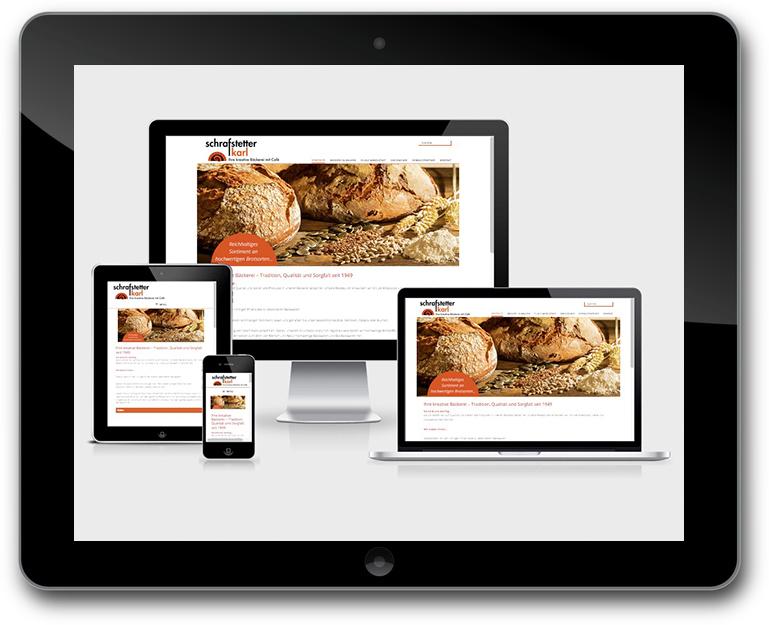 Schrafstetter - Bäckerei - Café - Responsive Design Website