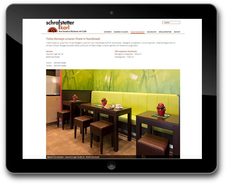 Schrafstetter - Bäckerei - Café - Bildergallerie - WordPress