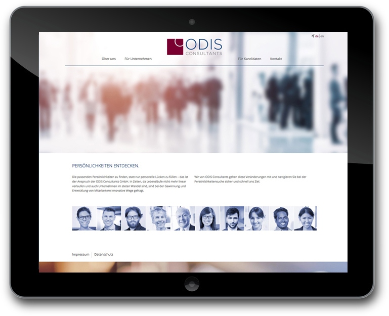 ODIS Consultants - Personalberatung - München - Website- WordPress