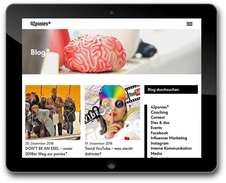 Website mit Blog - Agentur für Kommunikation