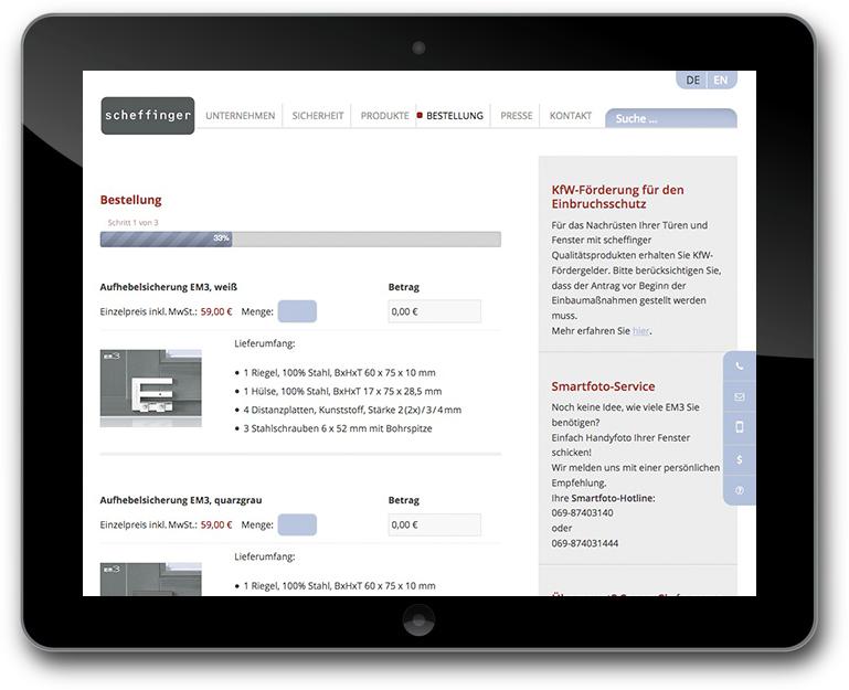 WordPress Shop Bestellformular
