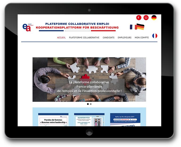 Webseite - Deutsch-französische Kooperationsplattform für Beschäftigung