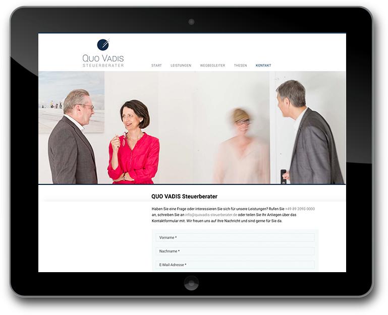 Individuelle Steuerberater Website mit CMS WordPREss