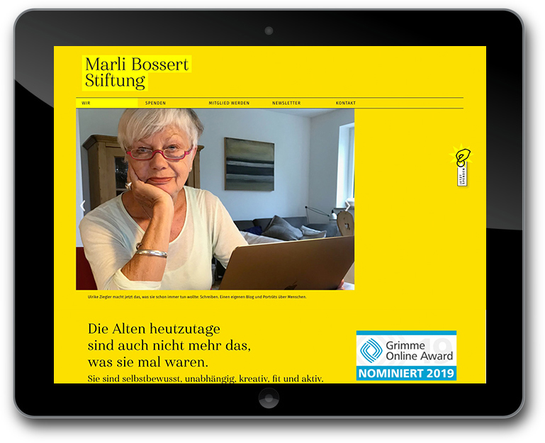 Website CMS WordPress für Marli Bossert Stiftung
