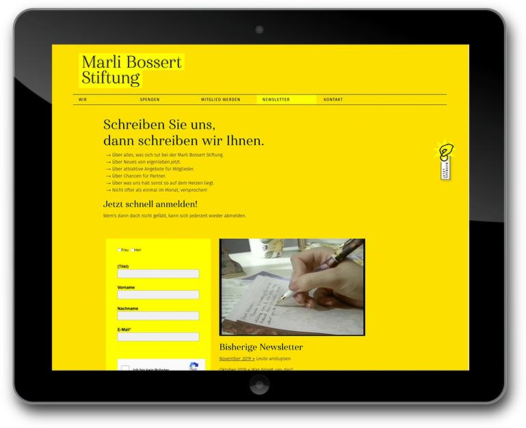 Marli Bossert Stiftung individuelle Website