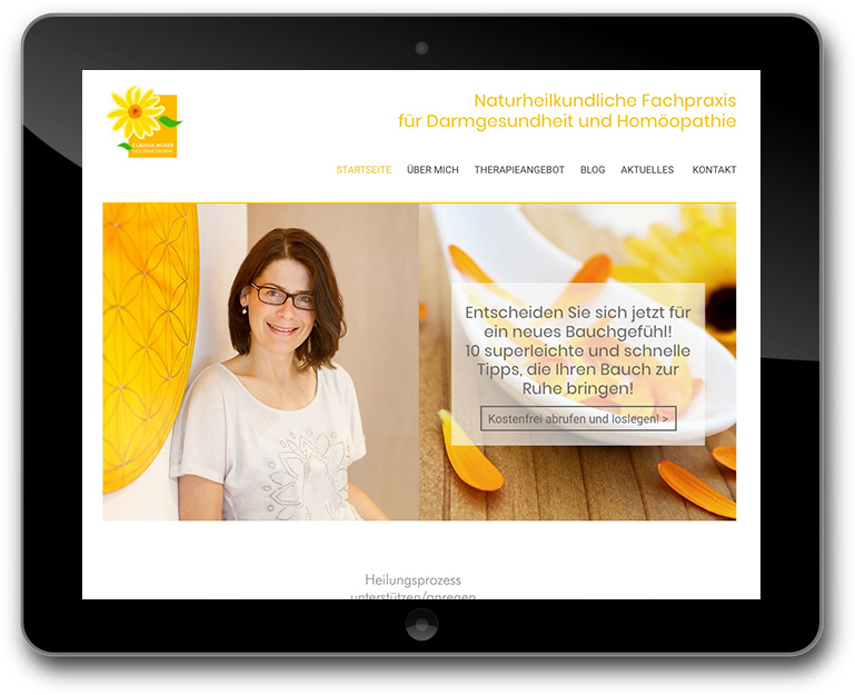 Website Naturheilpraktikerin Claudia Moser