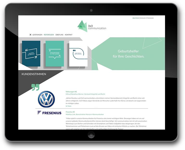 Website mit Animation - CMS: WordPress