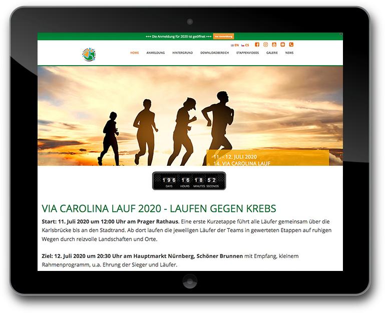 Website ViaCarolina Lauf - WordPress