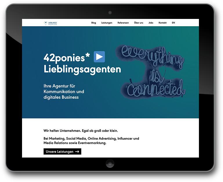 Agentur für Kommunikation - Individuelle Website