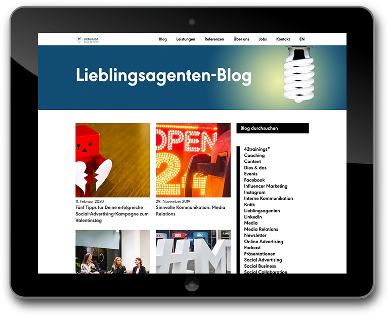 WordPress- Individuelle Blog Darstellung