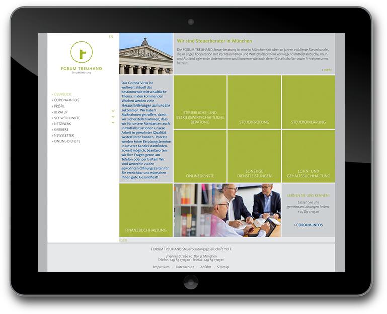 Website für  FORUM TREUHAND Steuerberatung