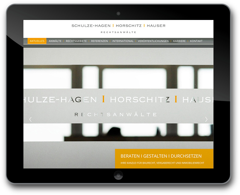 Schulze-Hagen I Horschitz I Hauser Rechtsanwälte Website Relaunch